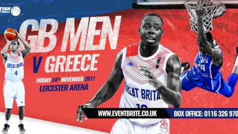 Greece v GB Basketball in Leicester in November
