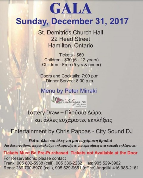 New Years Eve Gala in Ontario