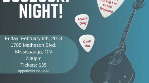Bouzouki Night in Canada in February
