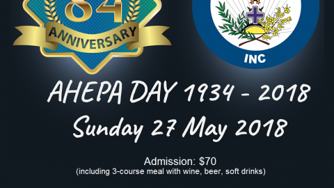 AHEPA Day in May in NSW