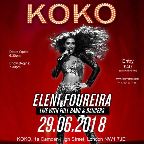 Eleni Foureira in London in June