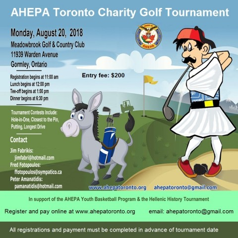 Golf Tournament in Toronto in August