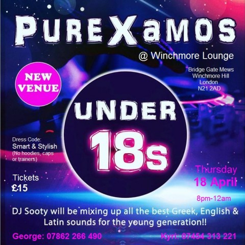 Under 18s night in London in April