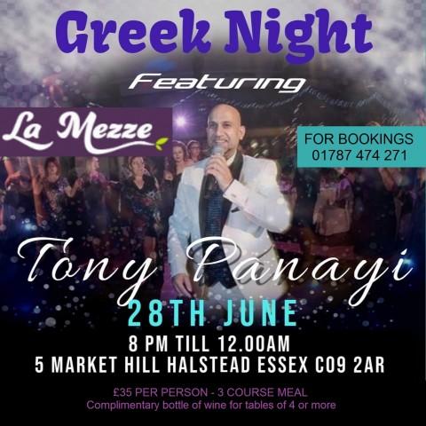 Greek Night in Essex in June