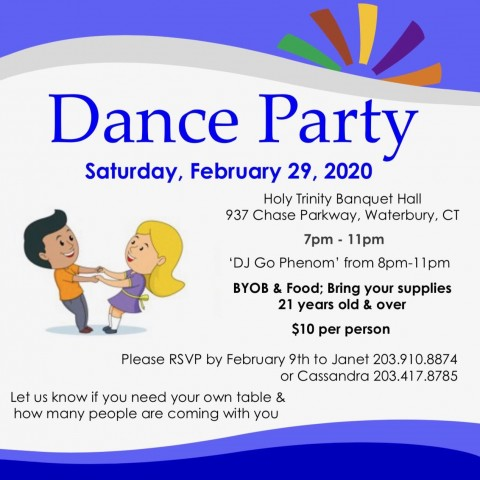 Dance Party in Connecticut in February
